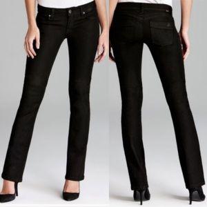 DL1961 Cindy Slim Bootcut Riker Black Jeans
